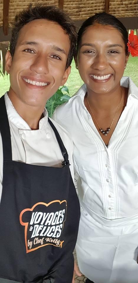 """Marama Coullombe a été sélectionné par Cheffe Kelly pour le tournage des émissions """"voyages et délices by Cheffe Kelly""""."""