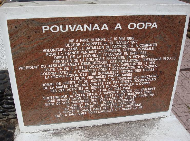 Révision du procès du défunt autonomiste polynésien Pouvanaa A Oopa: audience en juillet