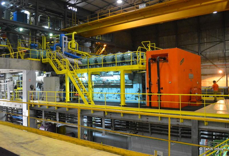 Les générateurs sont répartis sur deux étages