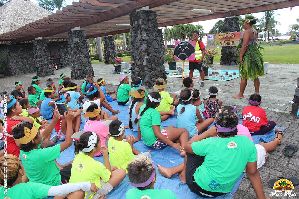 Plus de 50 enfants issus des quartiers prioritaires de Papeete ont répondu présent.