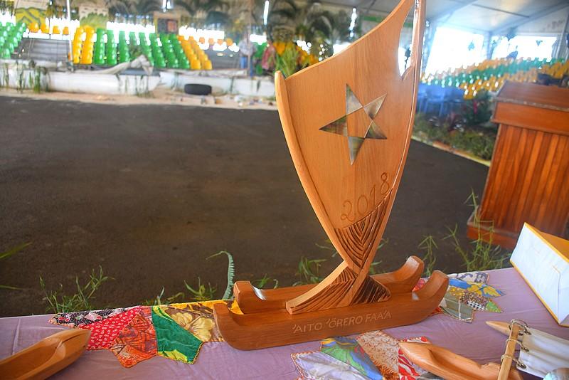 Voici le trophée du gagnant de Faa'a.