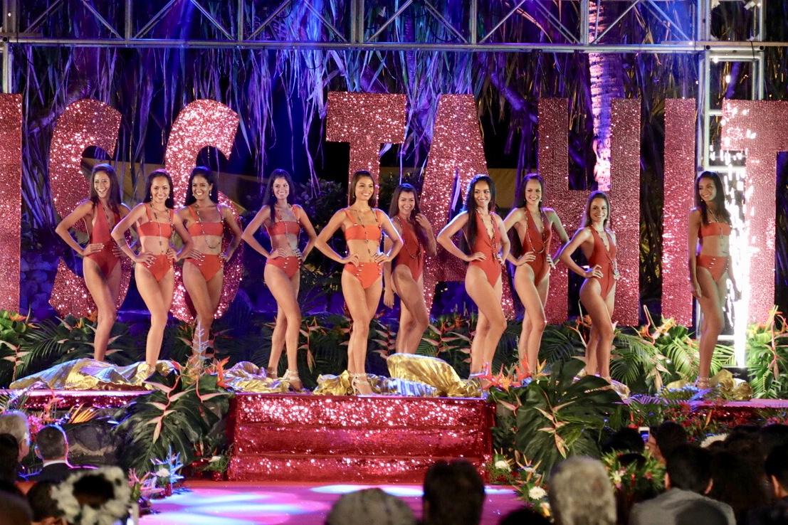 Gala Miss Tahiti: première apparition publique pour les candidates