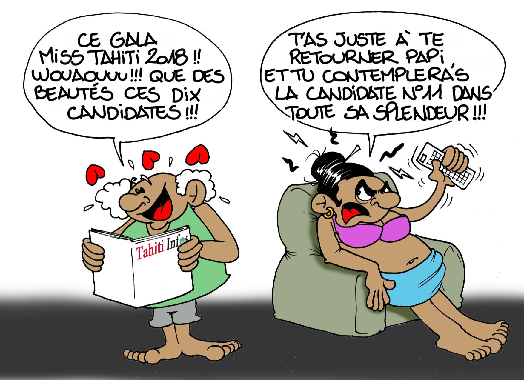 Le Gala de Miss Tahiti par Munoz