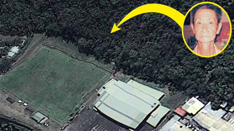 Le squelette a été retrouvé en montagne, dans la forêt au-dessus du stade de l'AS Dragon à Titioro, sur l'indication des suspects.