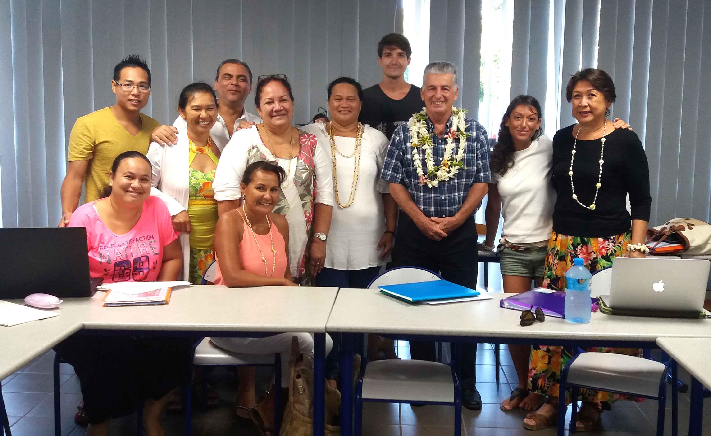 Les infirmiers suivent une formation de neuf semaines alternant entre enseignement théorique et stage clinique. Crédit Présidence de la Polynésie française.
