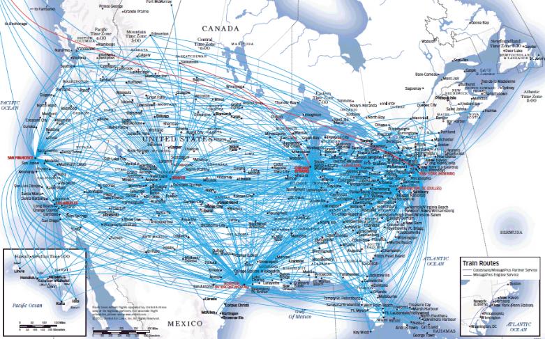 United Airlines, Inc. , communément appelée United , est une importante compagnie aérienne américaine basée à Chicago, Illinois. Il s'agit de la plus grande compagnie aérienne au monde depuis sa fusion avec Continental Airlines en 2010, devant American Airlines et Delta Air Lines. United exploite un important réseau de routes nationales et internationales, avec une présence importante dans la région Asie-Pacifique. United est un membre fondateur de Star Alliance, la plus grande alliance de compagnies aériennes au monde avec un total de 28 compagnies aériennes membres. Le service régional est exploité par des transporteurs indépendants sous la marque United Express.