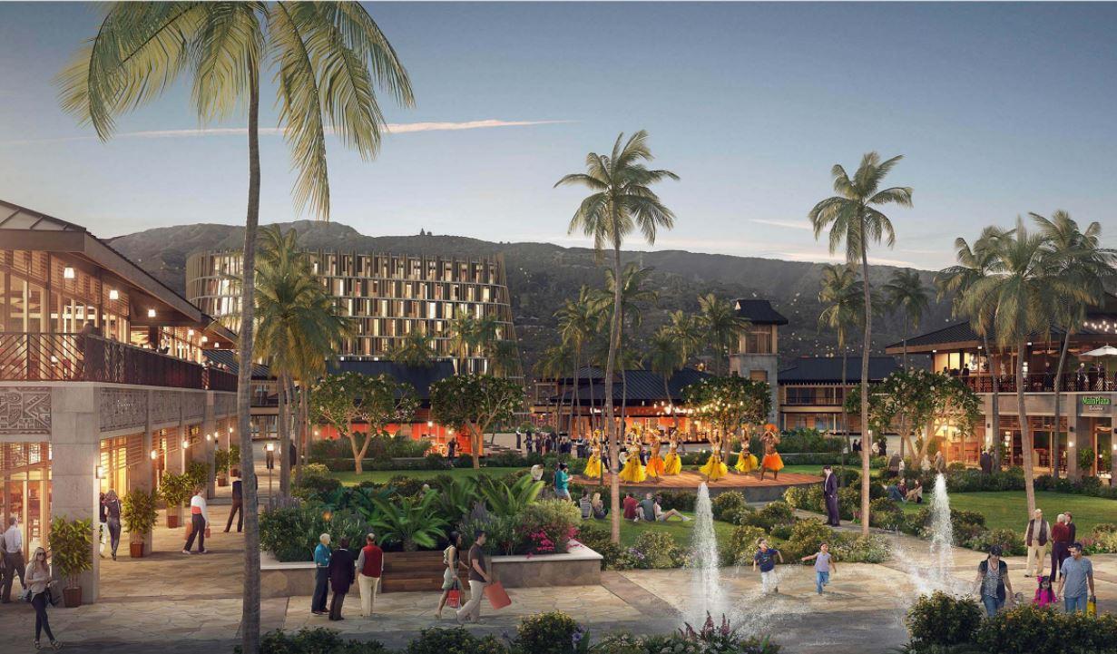 Esquisse du projet de complexe touristique Le village tahitien à Outumaoro.