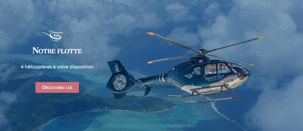 Le site Internet de Tahiti Nui Hélicoptères est ouvert