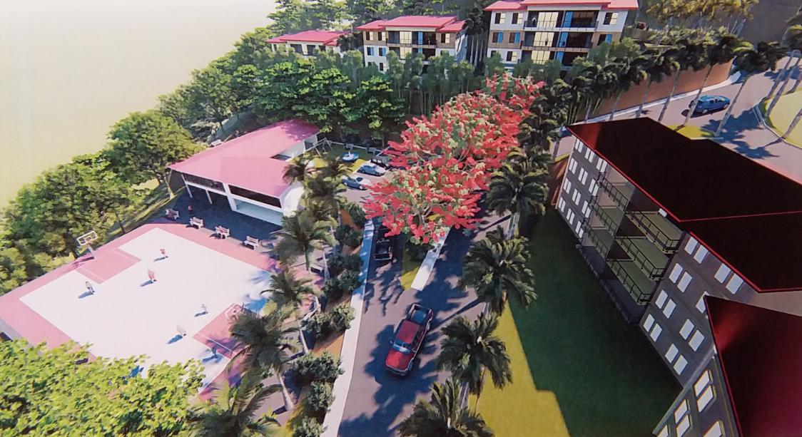 Le projet de lotissement Terua vise à créer pas moins de 224 logements (40 F2, 76 F3, 68 F4 et 32 F5) répartis sur 27 bâtiments.