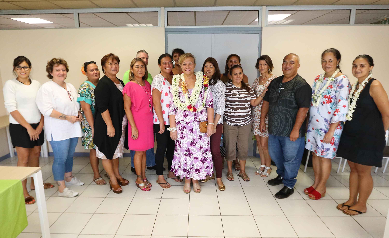 Visite de structures publiques du ministère de la famille et des solidarités