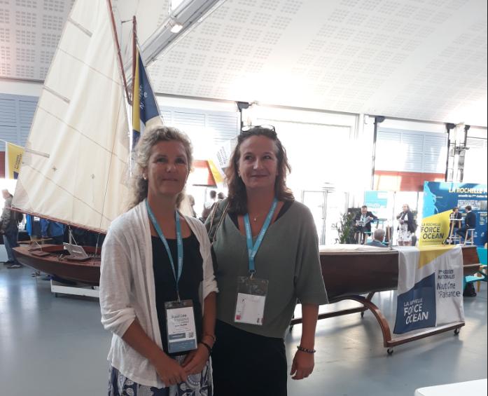 Mme Colombin SPSN Nouméa et Stéphanie Betz, coordinatrice de la SPSN Tahiti aux Assises. Crédit Photo SPSN.