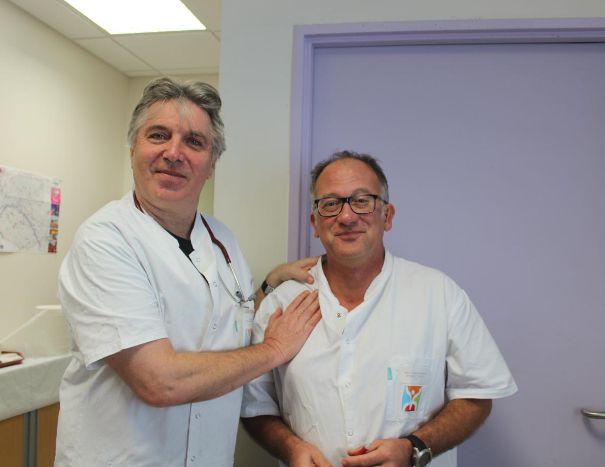 Les Drs Groult et Mallet du centre de transfusion sanguine.