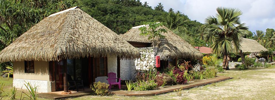 Les bungalows font tous face à la mer.