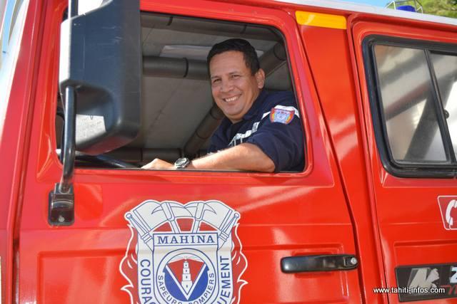 Richard Haupuni, chef de corps des sapeurs-pompiers de Mahina.
