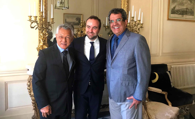Edouard Fritch rencontre le secrétaire d'Etat Sébastien Lecornu