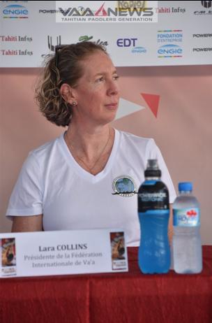 Lara Collins – Marraine du VA'A MATA'EINA'A CONTEST