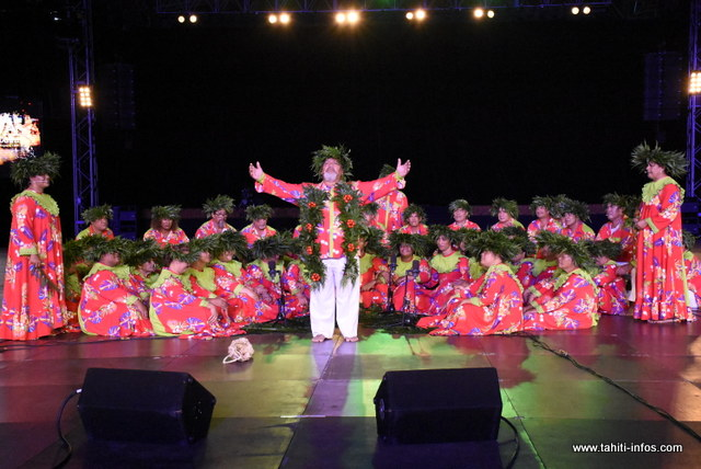 La prestation de Tamari'i Manotahi en photos