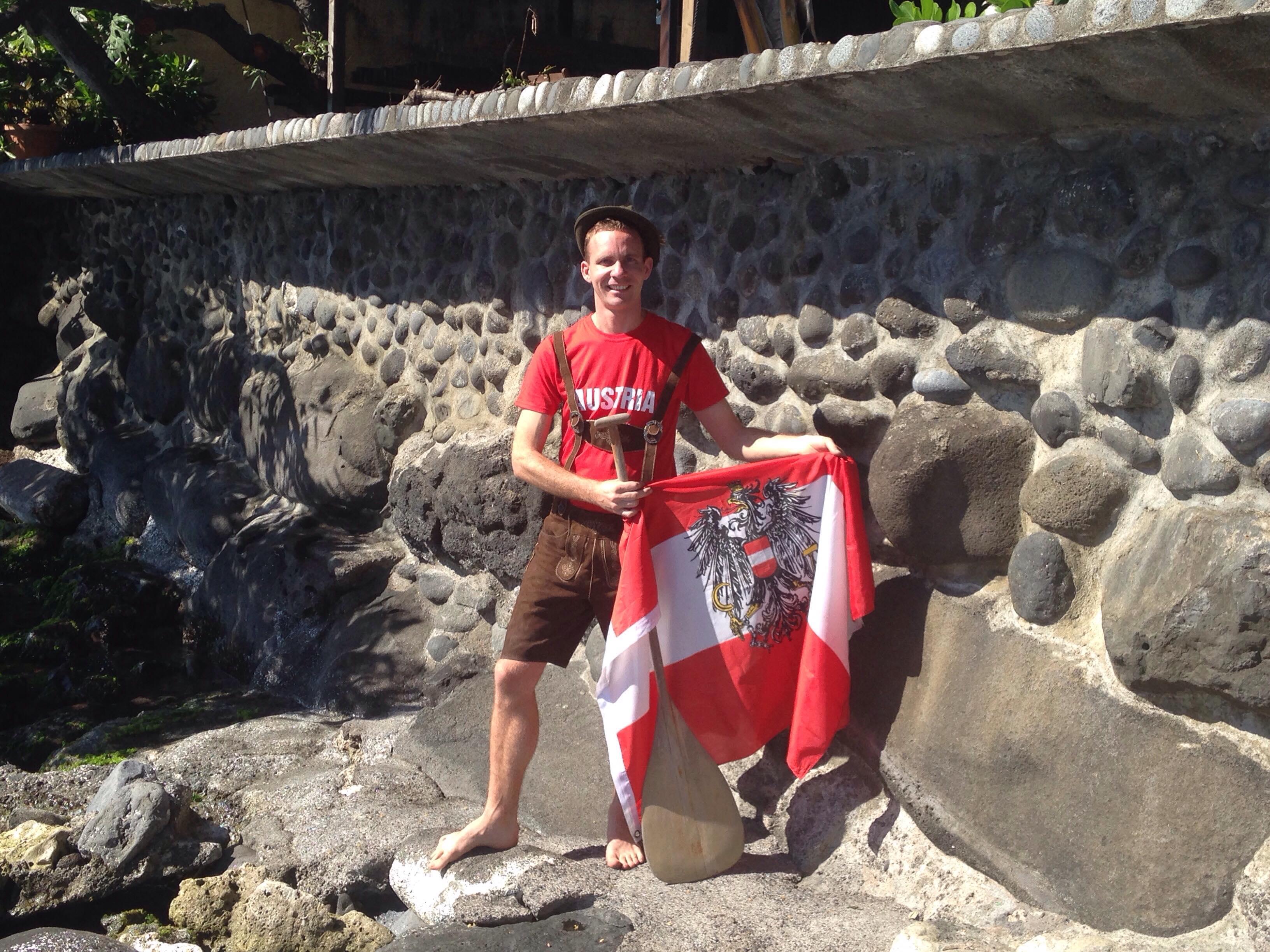 Bernhard Walzl, un Autrichien aux championnats du monde de va'a