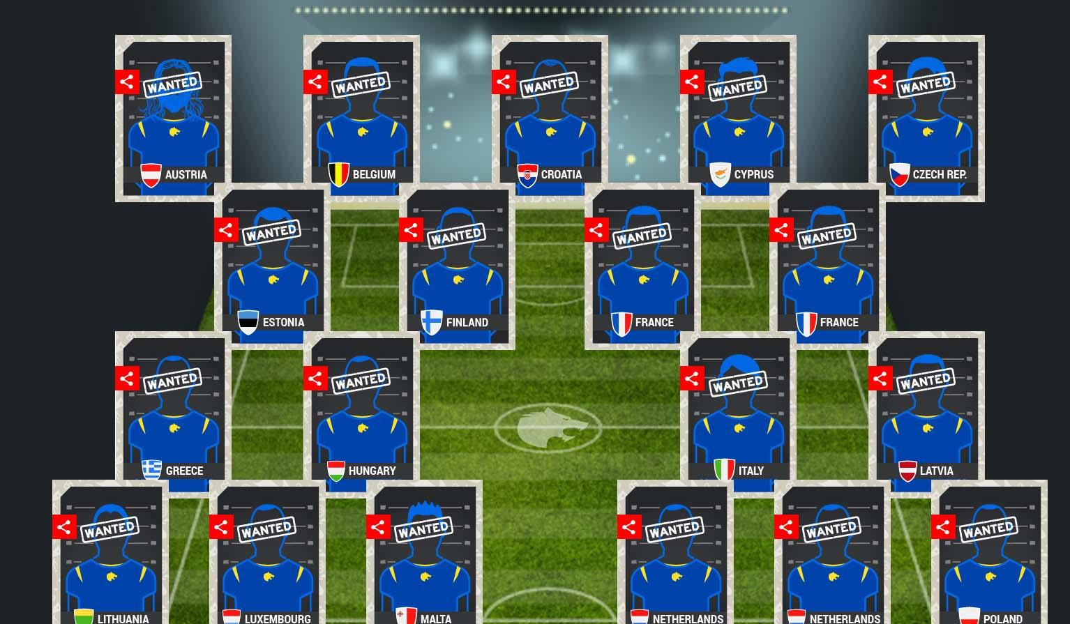 """Europol dévoile l'équipe de foot """"la plus recherchée"""""""