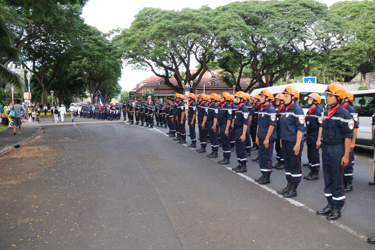 Le chant des tamari'i volontaires a encore fait vibrer le défilé du 14 juillet