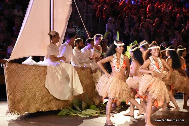 """Heiva i Tahiti : la prestation de """"Te Tiare nō Beachcomber"""" en photos"""