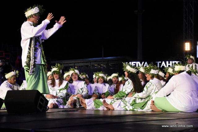 "Heiva i Tahiti : la prestation de ""Tamari'i Mataiea"" en photos"