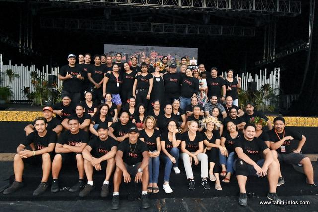 L'ensemble des équipes de Te Fare Tauhiti Nui.