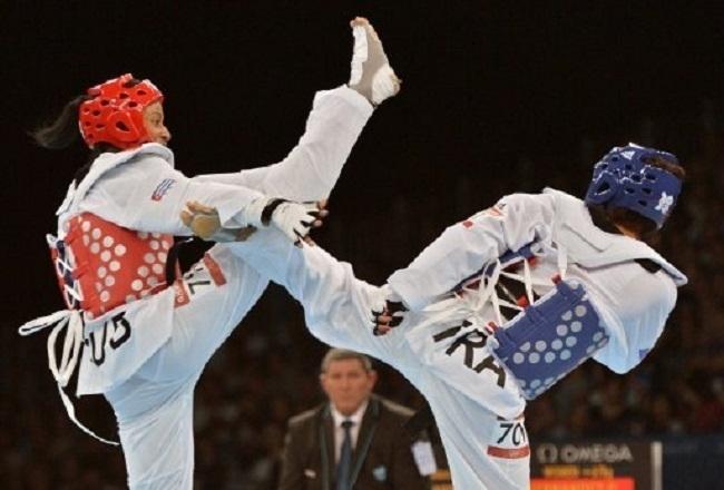 Le taekwondo est un art martial d'origine sud-coréenne, dont le nom peut se traduire par La voie du pied et du poing.