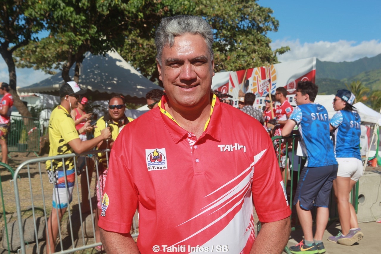 Gordon Barff, chef de la délégation Tahitienne