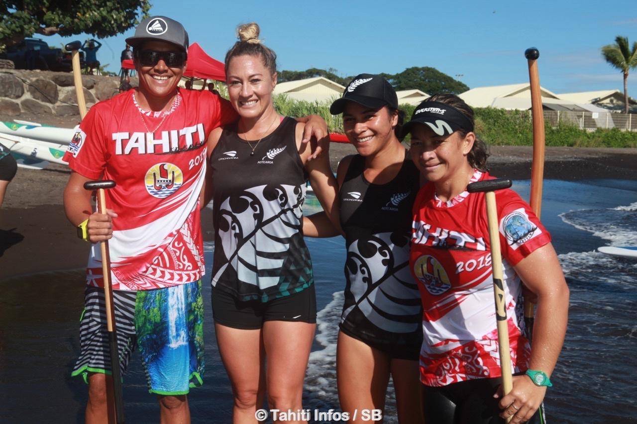 Hinatea Bernadino, à gauche, après la finale V1 sur 500m