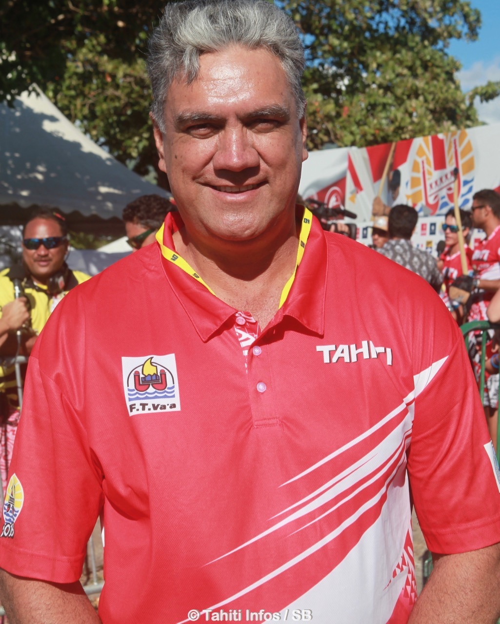 Gordon Barff, responsable de la délégation tahitienne