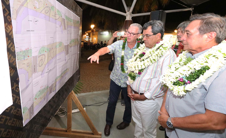 Inauguration des aménagements du front de mer de Papeete