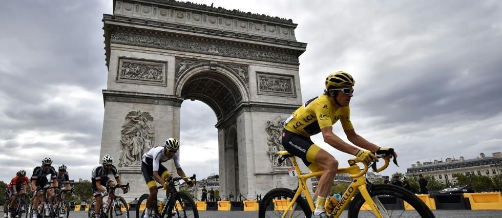"""Tour de France - Geraint Thomas remplace Chris Froome en haut des """"Champs"""""""