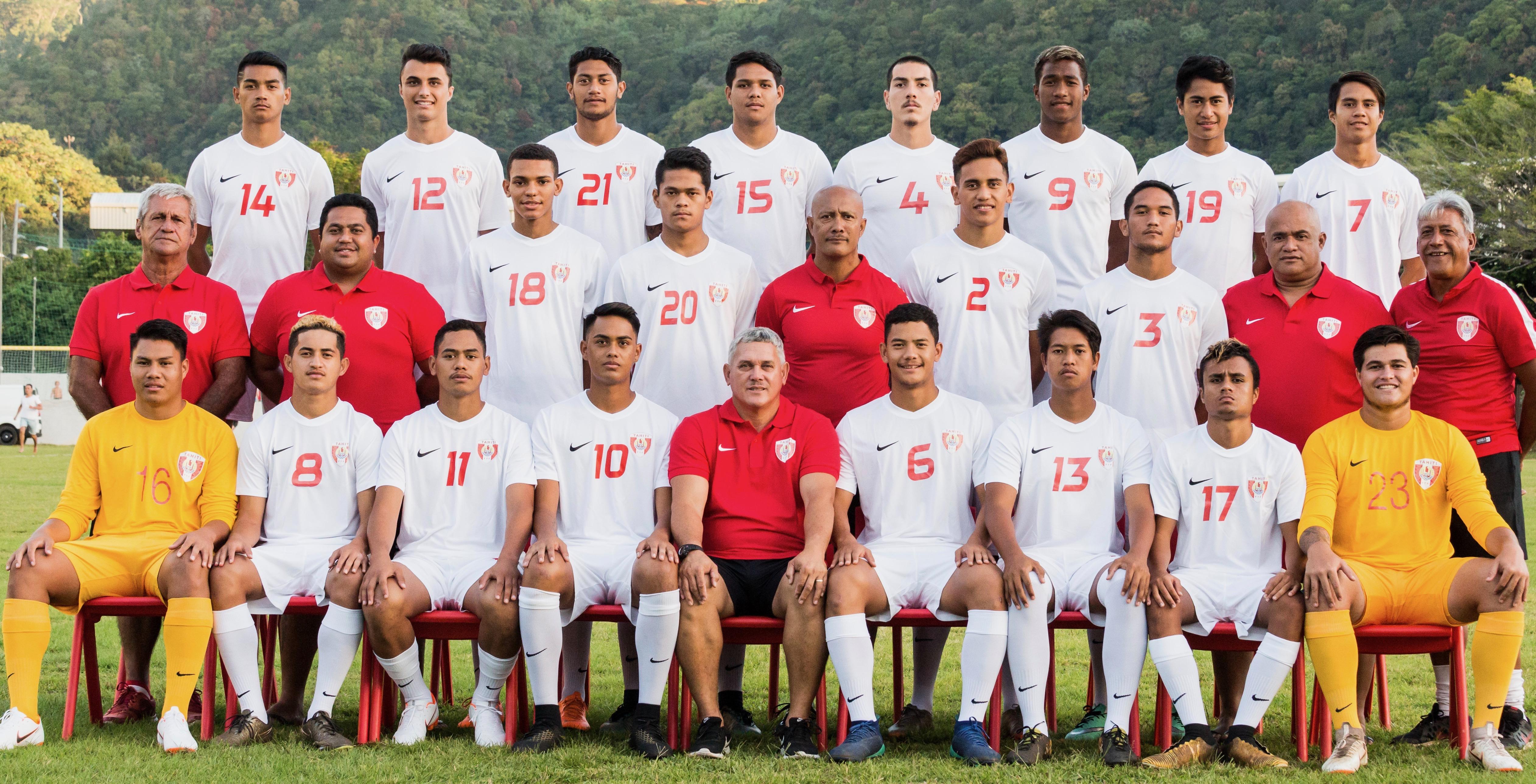 La sélection de Tahiti U19 © Jérôme Brouillet