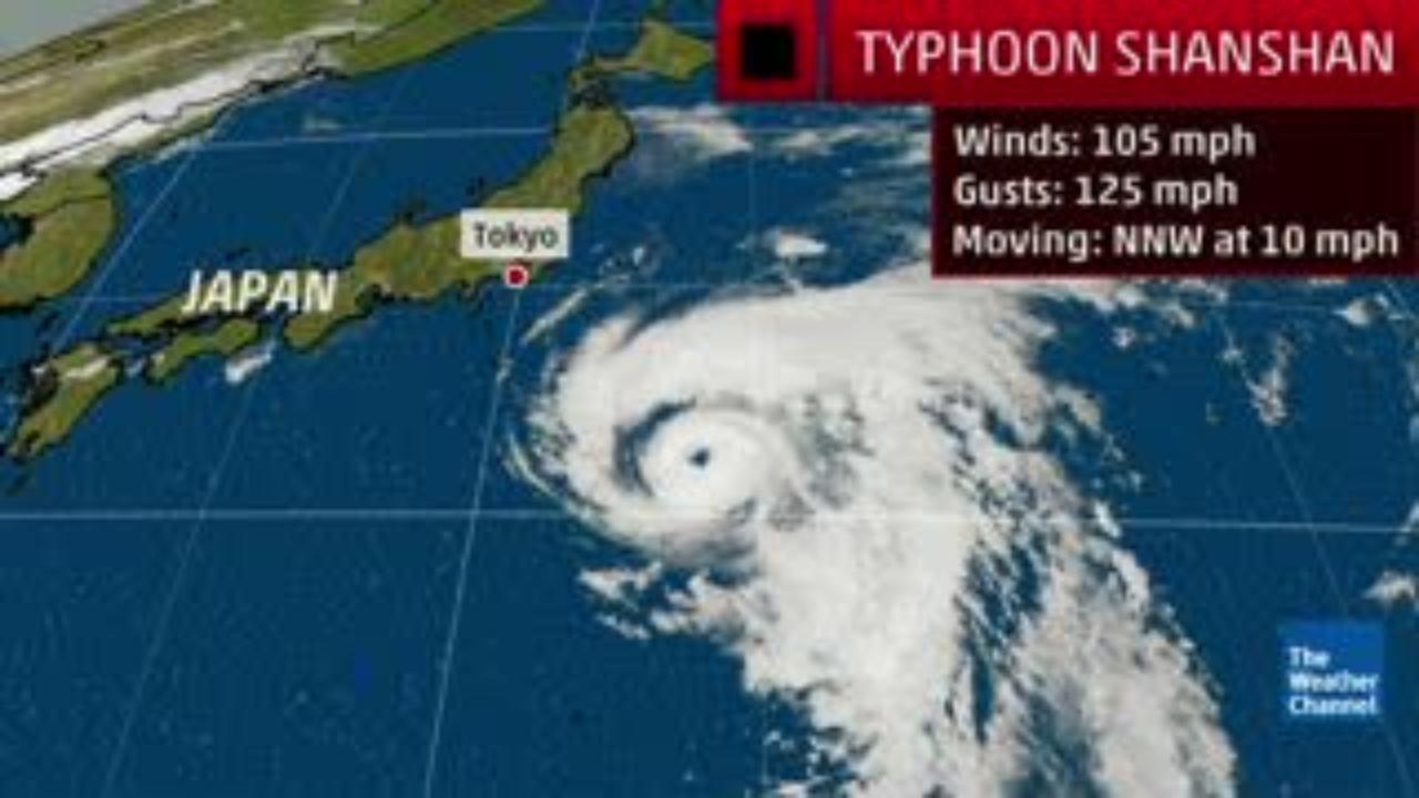 Le typhon Shanshan longe la côte est du Japon, épargne Tokyo