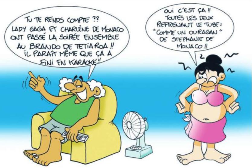 """ Lady Gaga et Charlène de Monaco à Tetiaroa "" par Munoz"