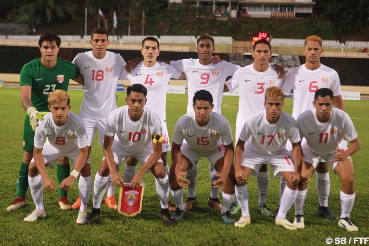 Les joueurs titulaires avant le début du match