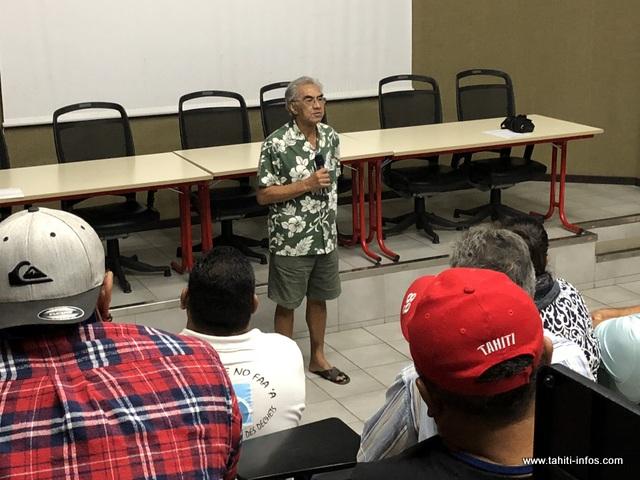 Teraiefa Chang a présidé la séance de vendredi matin.