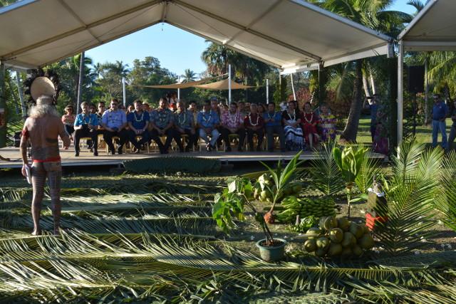 Cette pierre, symbolise le lien indéfectible entre les peuples polynésiens de Nouvelle-Zélande et de Polynésie française.