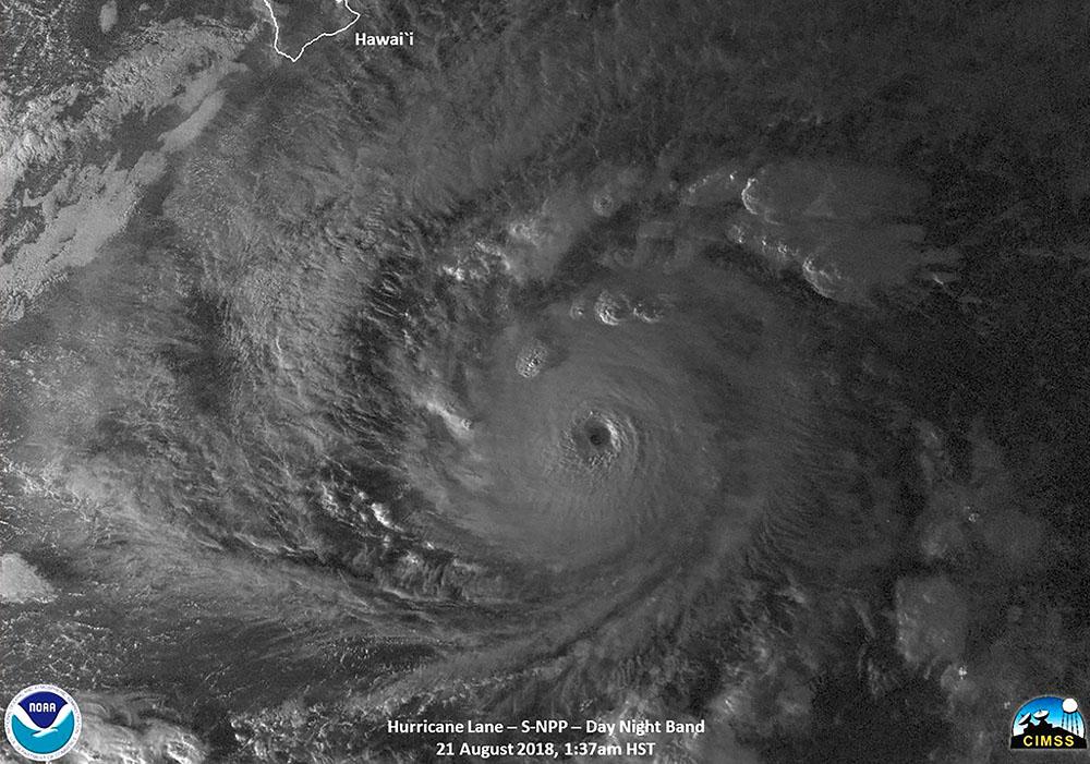 L'ouragan Lane en route vers Hawaï se hisse à la catégorie 5