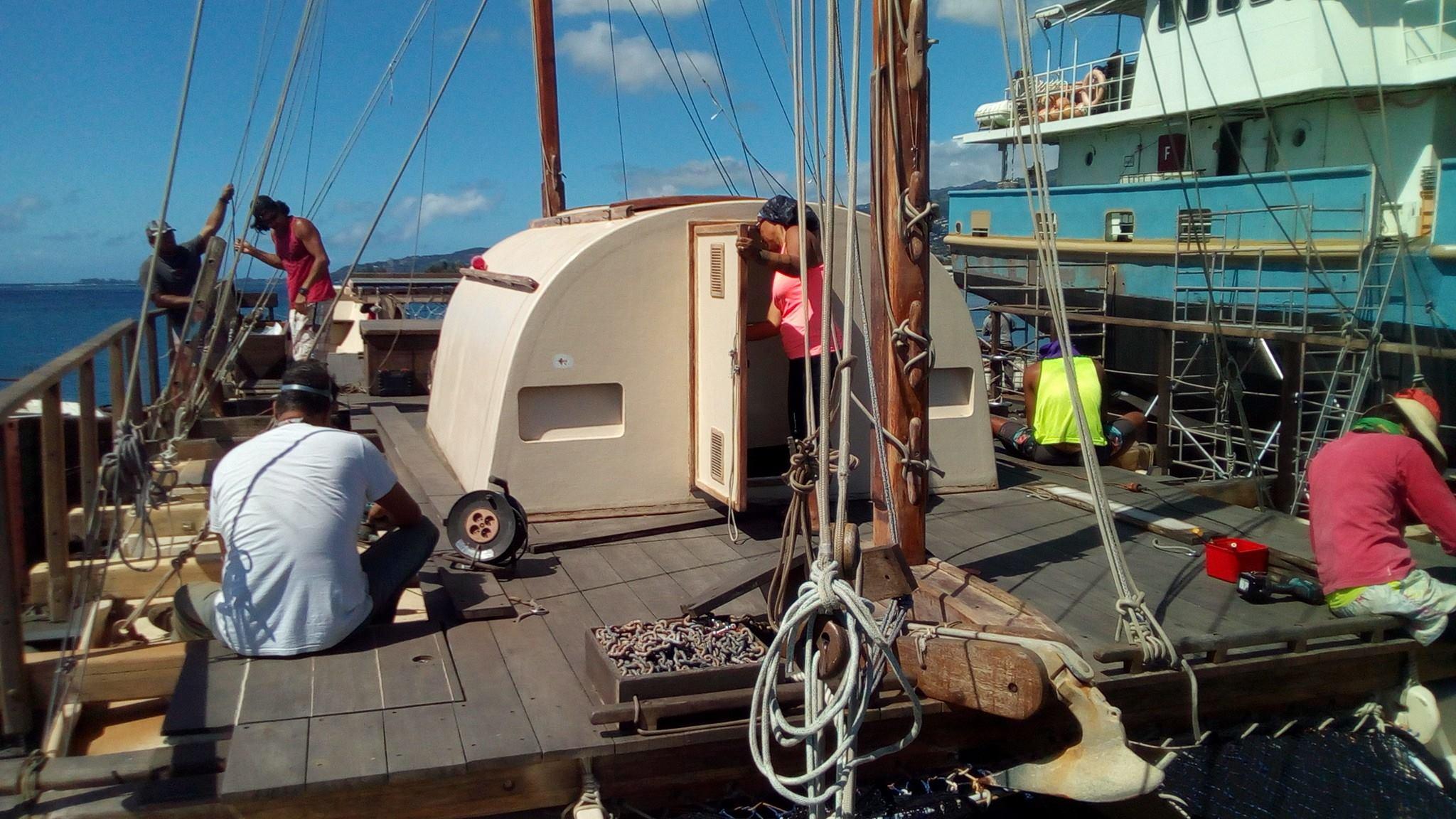 Faafaite fait escale au chantier naval Technimarine