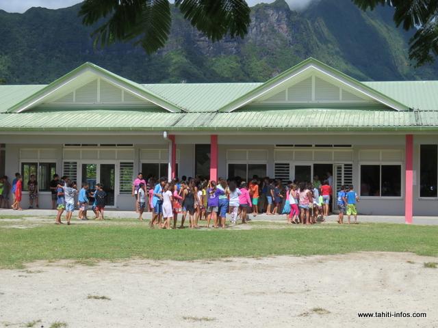 Sur Moorea, on compte plus de 2 000 élèves inscrits dans les 11 établissements scolaires de l'île.