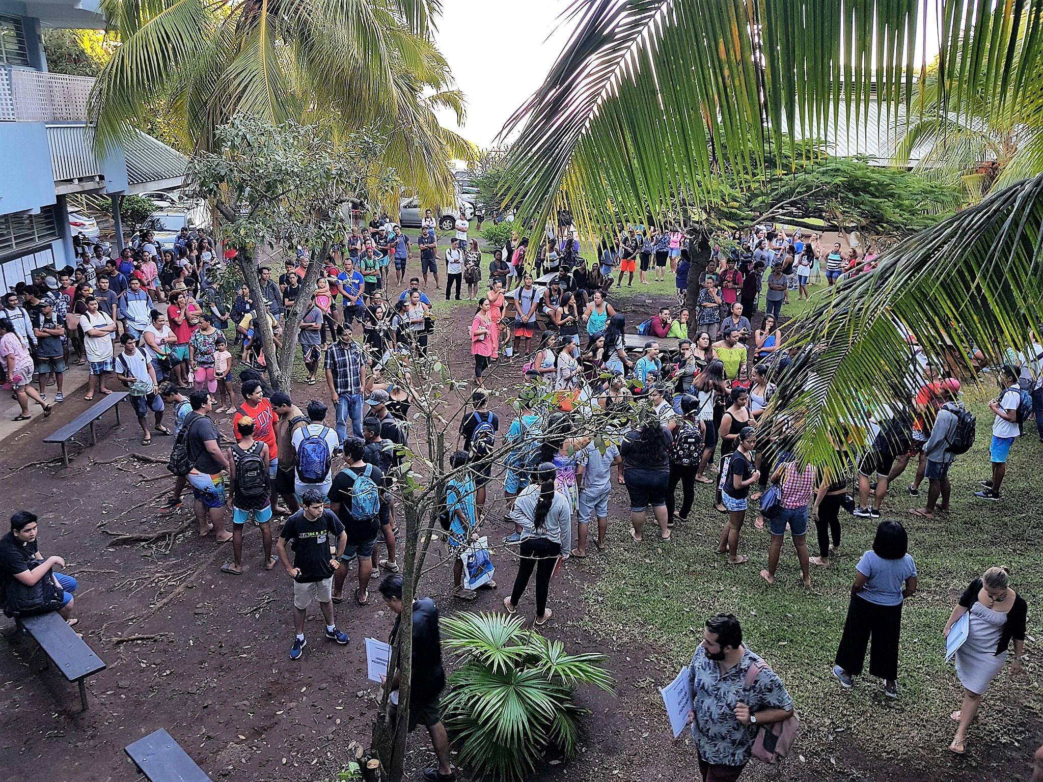 L'accueil des nouveaux élèves du lycée.