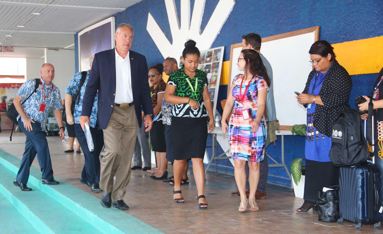 Forum des îles du Pacifique: rencontre avec la délégation des Etats- Unis