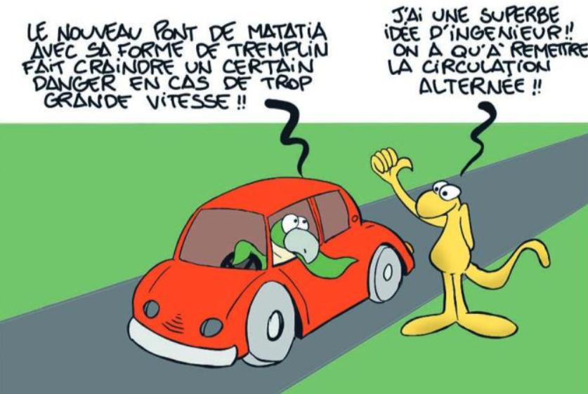 """"""" Le pont de Matatia """" vu par Munoz"""