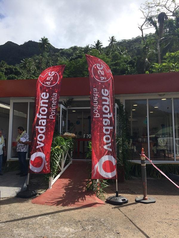 Vodafone inaugure sa nouvelle boutique à Moorea