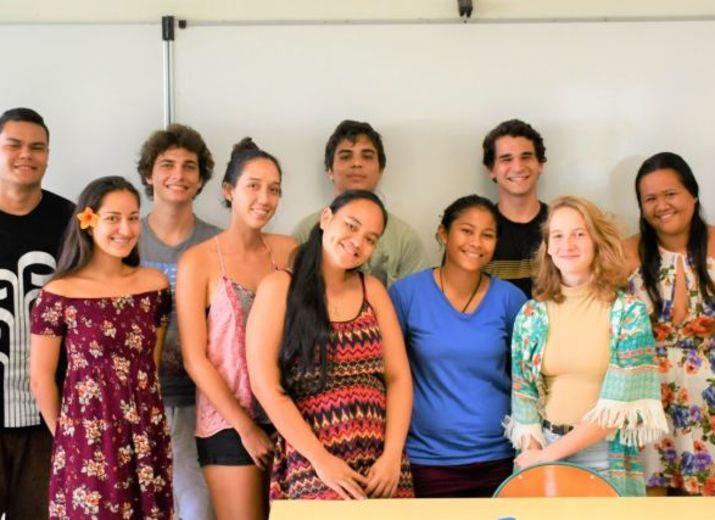 Les 13 élèves qui espèrent intégrer une des prestigieuses écoles de commerce métropolitaine à la prochaine rentrée.