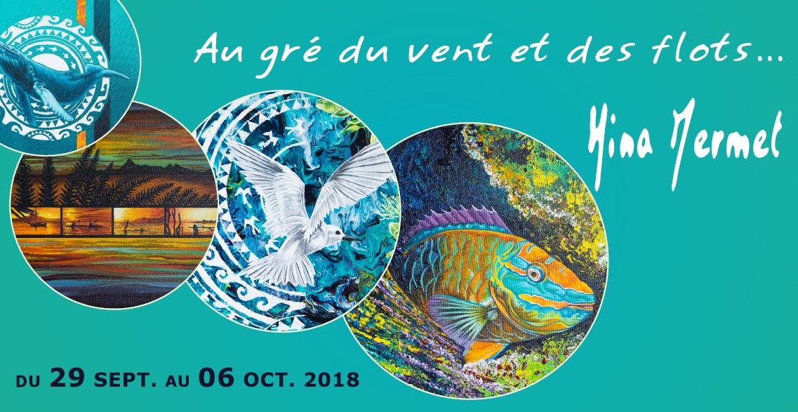 """Hina Mermet expose """"Au gré du vent et des flots…"""" au Chevalet"""