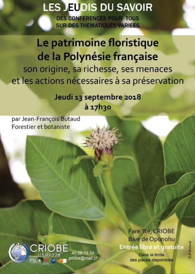 """Le Criobe multiplie les conférences gratuites et ouvertes à tous avec """"Les jeudis du savoir"""", qui en est à son troisième événement. Il aura lieu jeudi soir à 17h30, avec une conférence sur le thème des fleurs polynésiennes. Elle sera animée par le botaniste et forestier Jean-François Butaud."""