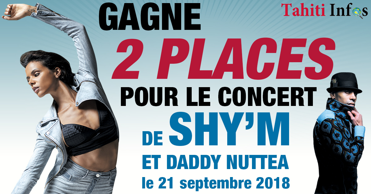 Jeu du 13 au 18 septembre 2018  : SHY'M en concert à Tahiti